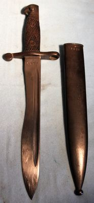 Bayonet for 8 mm. Mauser M 1941, number equal in good condition complete with sheath - Spain WW2