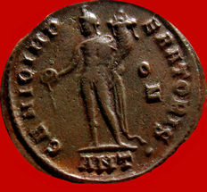 Roman empire - Galerius (305-311 A.D.). bronze large follis ( 6,82 g. 25 mm.). Antioch mint. GENIO IMPERATORIS. ANT.