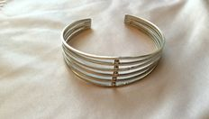 Vintage cuff silver bracelet for upper part of arm - silver 835/1000,made in Egypt