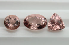 Lot of 3 Morganite - 5.52 ct