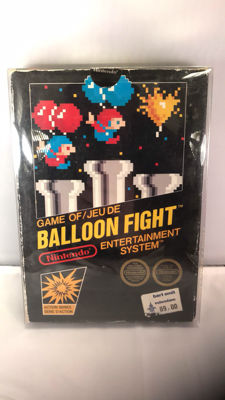 Very hard to find Nintendo Nes black box ASD fra version balloon fight
