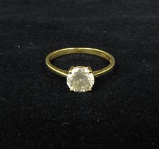 14 Kt yellow gold Solitaire Diamond Ring 0.94 ct  - Ring size. 51,5 :16,3 mm ( can easily be resized )
