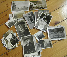lot 66 x Navy photos, portraits, ships, U boat + much more. Top RAR