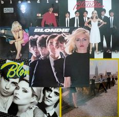 """Blondie - Lot of 5 albums and six  7"""" singles (Private Stock / Chrysalis 1977-1982) - mostly NL press"""
