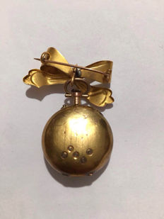 Women's gold pocket watch