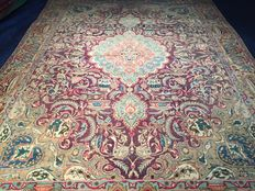 Very large Persian Kashmar! Signed! Very valuable! Investment! Oriental carpet, hand-knotted
