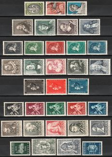 The Netherlands 1937/1940 - Selection of 13 complete series