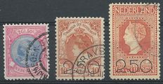 The Netherlands 193/1920 - Wilhelmina 'Loose Hair' and clearance issue - NVPH 47, 104, 105