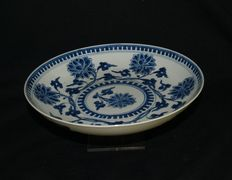 Blue and white porcelain plate – China – first half 18th century