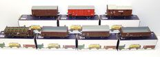 Piko H0 - 7 various 2-axles freight carriages. 4 x DR, 1 x SBB-CFF, 1 x ÖBB, 1 x CFL