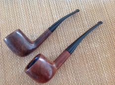 "Lot of two great pipes, Brebbia "" Perfecta Extra "" plus Barling "" Ye Olde Wood """