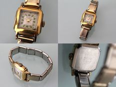 Anker vintage women's watch – 20 micron gold laminated – manual winding – 17 rubies – 1950s