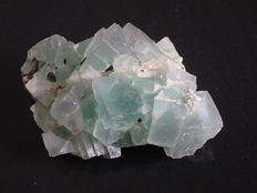 Fluorite, large green crystals - 19 x 12 x 7 cm - 1.681 kg