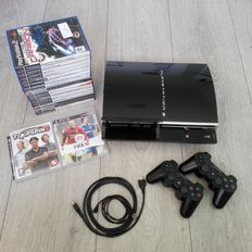 Sony PS3 console 60GB - rare edition with Backwards Compatibility - with 2 controllers & 20 games