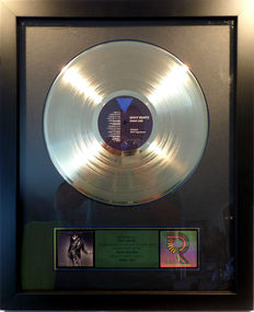 Lenny Kravitz - Mama Said US RIAA Gold Award goldene Schallplatte - original Sales Music Record Award ( Golden Record )