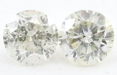 0.19 ct Pair Natural Round Brilliant Diamonds