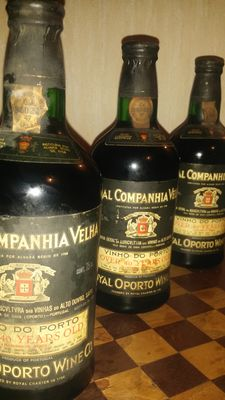 """Port wine, 40 years old, of the """"Real Companhia Velha"""" - 3 bottles"""
