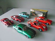 Politoys - Scale 1/43 - Lot of 6 cars Alfa and Ferrari: Nos.500, 523, 525, 530,577 and M11