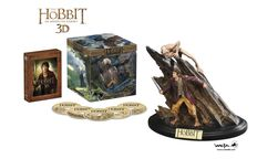 The Hobbit Trilogy 3D - Bluray - DVD with Statues