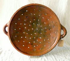 Large fish colander 17th century Amsterdam - 40 cm