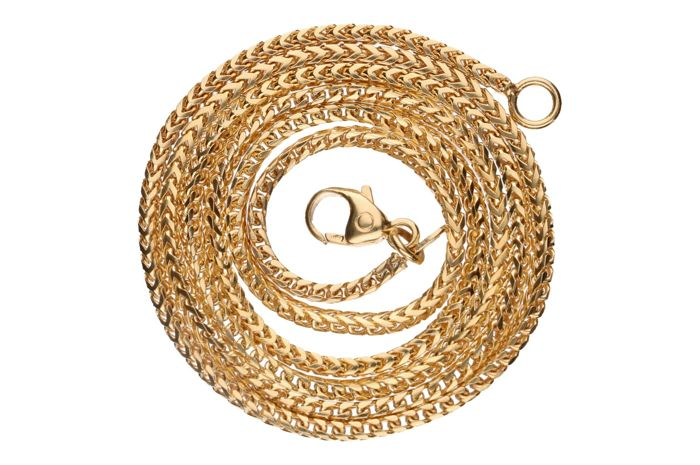 14 kt yellow gold foxtail necklace - Length: 45 cm