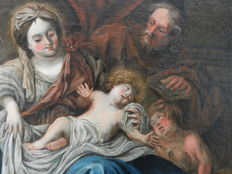 Baroque painter from the 17th c - Sainte Famille
