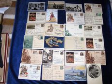 24 special German postcards and/or cards with special stamps 1933-1945
