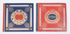 Uniforms; Lot with two picture card albums by Zigarettenfabrik Waldorf-Astoria -1932/1933