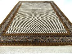 "Mir – 239 x 172 cm – ""Light oriental carpet with natural shades and in beautiful condition"""