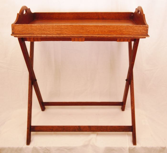 Butlers Tray Table On Folding Stand   English   19th Century