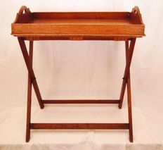Butlers Tray Table on folding stand - English - 19th century