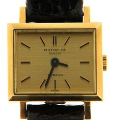 "Patek Philippe ""Carrée"" for Gübelin - rare woman's wristwatch - (our internal #7620)"