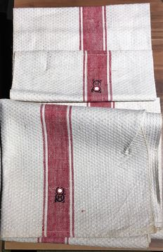 3rd Reich 2 x original hand towels, navy from WW II