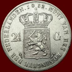 The Netherlands – 2½ guilder coin 1852 Willem III – silver