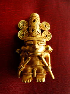 Pre-Colombian Tumbaga Gold - 60x30mm, 33'3 grs