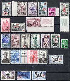 Dom-Tom - Set of Reunion, Oceania and New Caledonia stamps