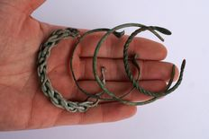 Lot with 4 (viking) bracelets from the early Middle Ages - 55-66 mm (4)