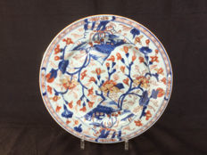 Large porcelain Imari plate - China - early 18th century
