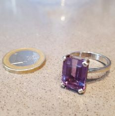 Amethyst ring with 925 silver - Size 19