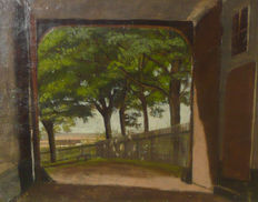 Unknown artist - View through an archway.