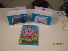 2 new WIIU controllers boxed and WiiU kirby and the rainbow paintbrush(also new)