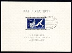 Danzig - collection Daposta block 1 and 2 with printing press errors I inspected