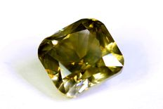 Diamond – 1.59 ct – Fancy Greenish Yellow – SI1 – No reserve price