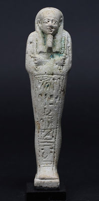 Egyptian faience Ushabti for the lady Ipethemetes - 157 mm