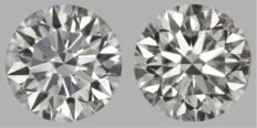 1.45 ct total pair Round Brilliant ISI1-ISI1 with IGI-original image-10x