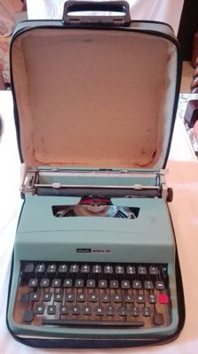 Olivetti typewriter with sheath model Lettera 32, Italy, second half 20th century