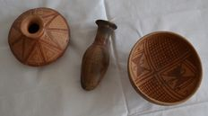 Pre Colombian Pottery - 3 different items (3)