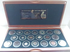 "World - Collection of carious coins ""The 20 Centuries Coin Collection"" (20 different ones) in case."