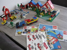 Legoland / Classic Town / Trains 4,5V - 6 sets o.a. 6374 + 1620 - Holiday Home + Factory