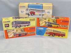 Corgi - Scale 1/50 - Lot with models: 5 x American buses